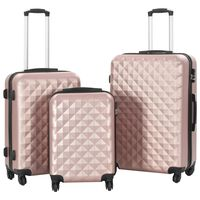 vidaXL Conjunto de tróleis estojo rígido 3 pcs ABS ouro rosa