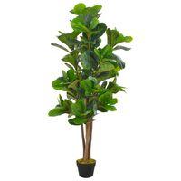 vidaXL Planta figo folhas de violino artificial com vaso 152 cm verde