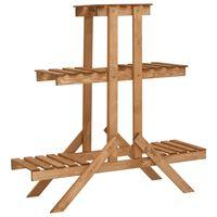 vidaXL Suporte para plantas 83x25x83 cm madeira de abeto
