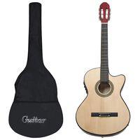 vidaXL 12 pcs conjunto de guitarra com equalizador e 6 cordas