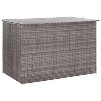 vidaXL Caixa de arrumação para jardim 150x100x100 cm vime PE cinzento