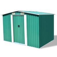 vidaXL Abrigo de jardim metal verde 257x205x178 cm
