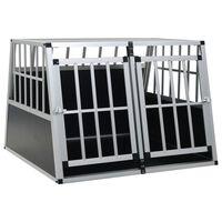 vidaXL Transportadora para cães com porta dupla 94x88x69 cm