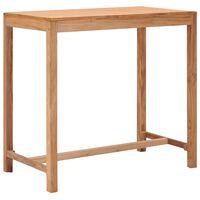 vidaXL Mesa de bar para jardim 110x60x105 cm madeira de teca maciça