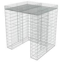 vidaXL Muro gabião p/ caixote do lixo aço galvanizado 110x100x130 cm