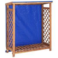 vidaXL Abrigo para arrumação de lenha 105x38x118 cm acácia maciça