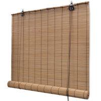 vidaXL Estore/persiana em bambu 80x220 cm castanho