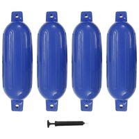 vidaXL Defensas de barco 4 pcs 58,5x16,5 cm PVC azul