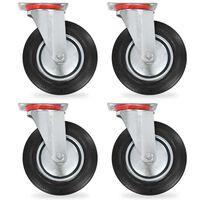 vidaXL 8 pcs rodas giratórias 200 mm