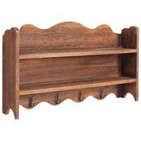 vidaXL Cabide de parede 50x10x30 cm madeira castanho