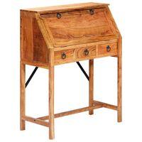 vidaXL Secretária 90x40x107 cm madeira de acácia maciça