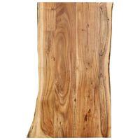vidaXL Tampo de mesa 100x(50-60)x2,5 cm madeira de acácia maciça