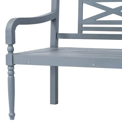 vidaXL Conjunto sofá de canto e mesa de exterior 16 pcs acácia maciça