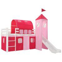 vidaXL Estrutura cama infantil c/ escorrega e escada pinho 208x230cm