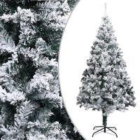 vidaXL Árvore de Natal artificial com neve 180 cm PVC verde
