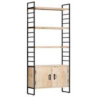vidaXL Estante de 4 andares 80x30x180 cm madeira de mangueira maciça