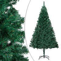 vidaXL Árvore de Natal artificial com ramos grossos 210 cm PVC verde