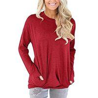Camisa de manga comprida com bolsos vermelhos (XXL)