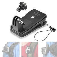 Pinça de mochila para GoPro com trava de arame