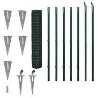 vidaXL Cerca 10 x 1,5 m aço verde