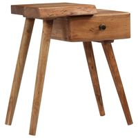 vidaXL Mesa de cabeceira em madeira de acácia maciça 45x32x55 cm