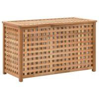 vidaXL Arca p/ roupa suja 77,5x37,5x46,5 cm madeira nogueira maciça