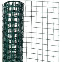 Nature Rede arame quadrada 0,5x2,5m 13mm aço revestido plástico verde