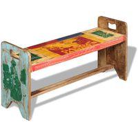 vidaXL Banco 100x30x50 cm madeira reciclada maciça