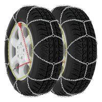 vidaXL Correntes de neve para pneus de carros 2 pcs 9 mm KN100