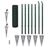 vidaXL Cerca 10 x 1,0 m aço verde