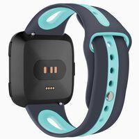 Pulseira Fitbit Versa silicone - cinza / turquesa