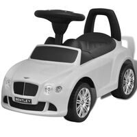 Mini-Carro Infantil, de Impulso com Pés, modelo Bentley, cor Branca