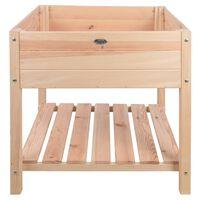 Esschert Design Canteiro elevado madeira clara XL