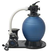 vidaXL Bomba de filtro de areia 1000 W 16800 L/h XL