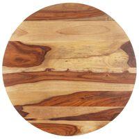 vidaXL Tampo de mesa redondo madeira sheesham maciça 25-27 mm 50 cm