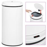 vidaXL Caixote do lixo com sensor automático 70 L aço carbono branco