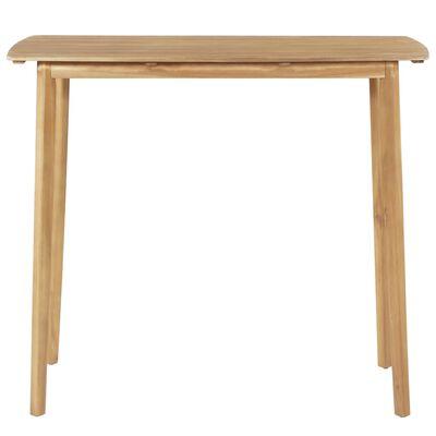 vidaXL Mesa de bar 120x60x105 cm madeira de acácia maciça
