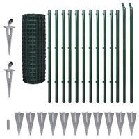 vidaXL Cerca 25x1,2 m aço verde