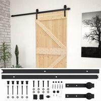 vidaXL Porta de correr com ferragens 90x210 cm madeira de pinho maciça