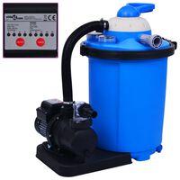vidaXL Bomba de filtro de areia com temporizador 550 W 50 L