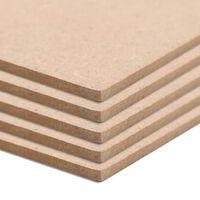 vidaXL Placa de MDF 10 pcs quadrado 60x60 cm 2,5 mm
