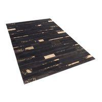 Tapete marrom e dourado - Pele genuína - 140x200 cm - ARTVIN