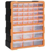 vidaXL Caixa organizadora com 39 gavetas 38x16x47 cm