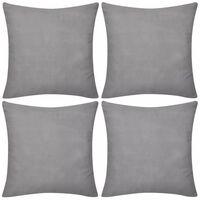 Capas de almofada 4 pcs 50 x 50 cm algodão cinzento