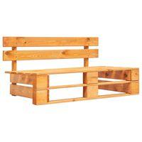 vidaXL Banco de paletes para jardim madeira castanho mel