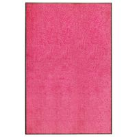 vidaXL Tapete de porta lavável 120x180 cm rosa