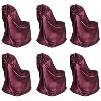 Capa de cadeira para banquetes de casamentos, 6 pcs, bordô