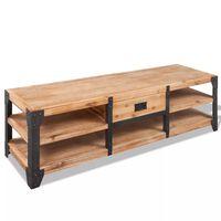 vidaXL Móvel TV madeira de acácia maciça 140x40x45 cm