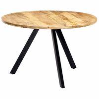 vidaXL Mesa de jantar 120x76 cm madeira de mangueira maciça