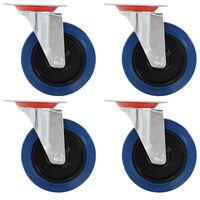 vidaXL 12 pcs rodas giratórias 125 mm
